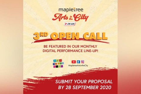3rd Open Call: Mapletree Arts in the City on Air