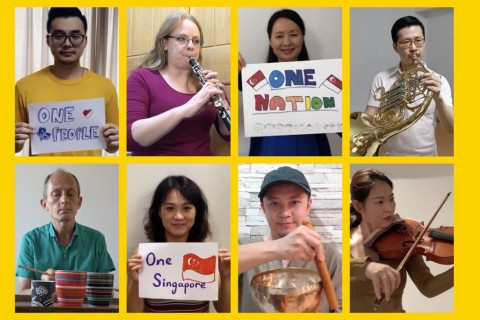 At home with Singapore Symphony Orchestra performing One People, One Nation, One Singapore