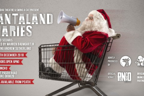 Santaland Diaries by David Sedaris and Christmas Cabaret hosted by Victoria Mintey