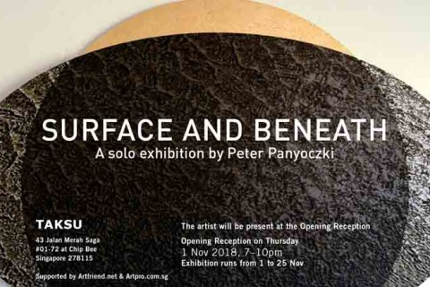 Surface And Beneath, a solo exhibition by Peter Panyoczki