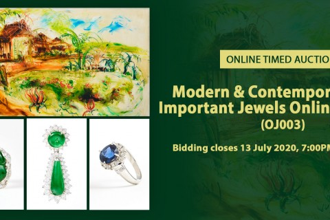 Modern & Contemporary Art; Important Jewels Online Auction (OJ003)