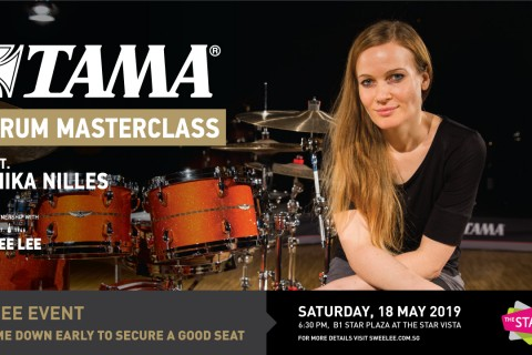 Anika Nilles drums sharing session at Star Vista
