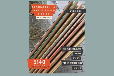 Suminagashi x Saddle Stitch Binding