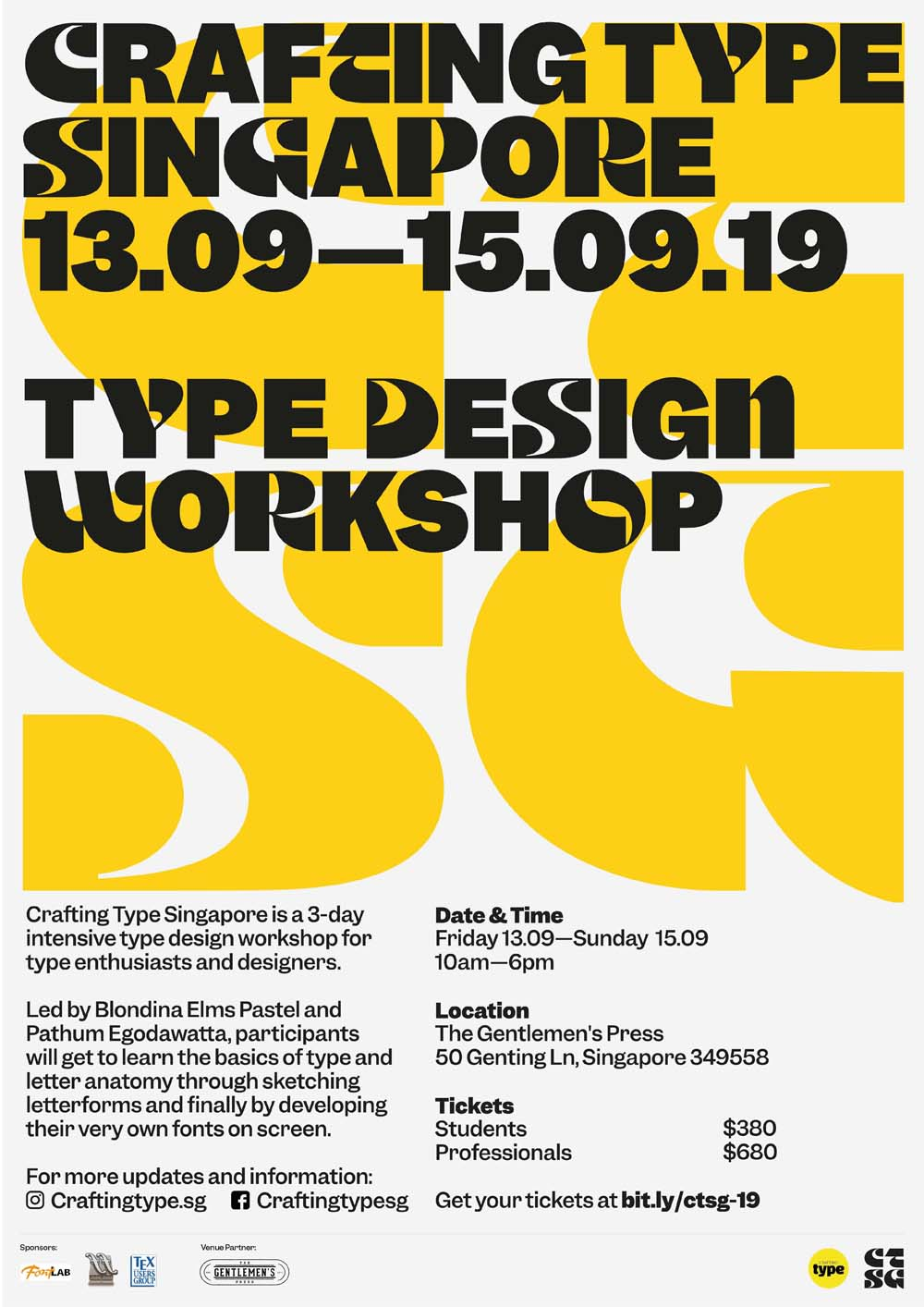 Crafting Type Singapore 2019- Arts Republic | Arts Events