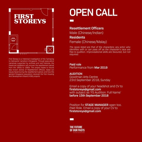 First Storeys - Open Call for Stage Manager and Actors