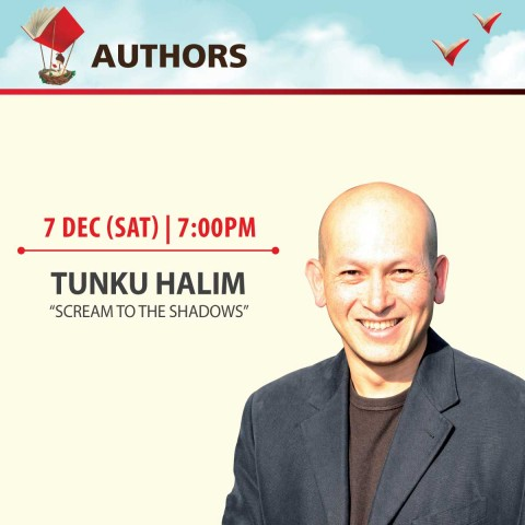 "Book sharing session by Tunku Halim, author of ""Scream to the Shadows"""
