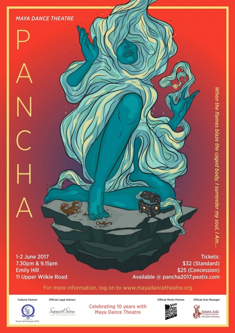 PANCHA - When the flames blaze the caged body, I surrender my soul, I Am …