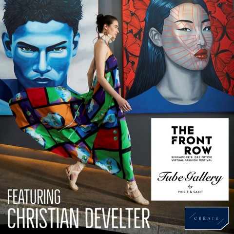 'Develter x Tube Gallery' - The Launch of Internationally Renowned Artist Christian Develter's Resort Wear Collection Live on the Runway