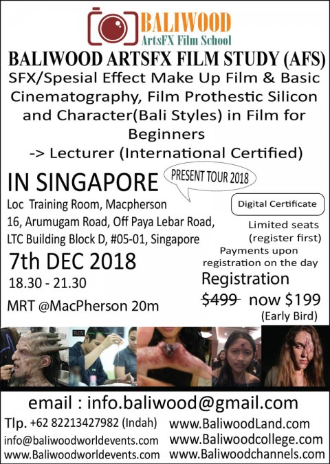 Special Effect Film Make Up, Prothestic & Character (Bali Styles) for Beginners