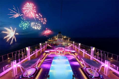 Welcome the Year of the Ox fireworks onboard World Dream cruise!