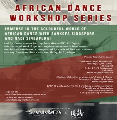 African dance workshops accompanied by live drumming