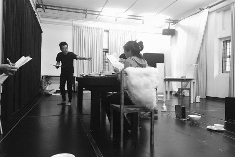 In the rehearsal room with Oliver Chong and the cast of Citizen Dog